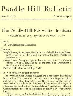 Pendle Hill Bulletin