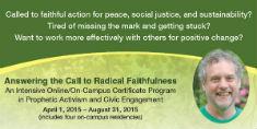 Radical Faithfulness Program 2015 print ad