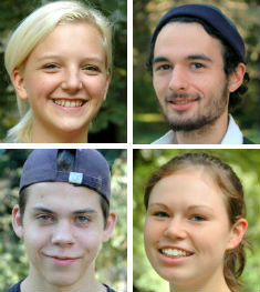 IFD Nord interns (clockwise from top left: Martje, Amadeus, Laura, and Lion)